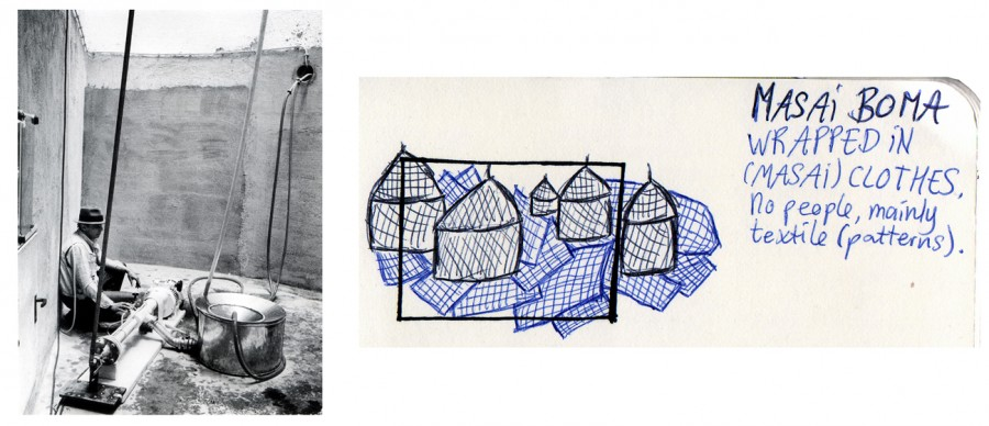 sketch masai boma and honeypump joseph beuys